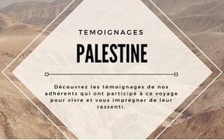 Témoignages de participants du circuit en Palestine