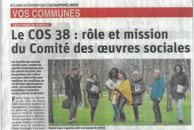 Le Dauphiné Libéré - article du 22 février 2021